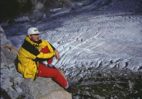 Kratofil nad ledenjakom Argentiere