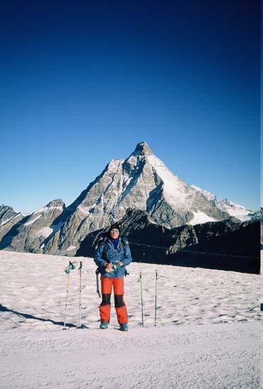 Pogled na Matterhorn sa susjednog skijališta