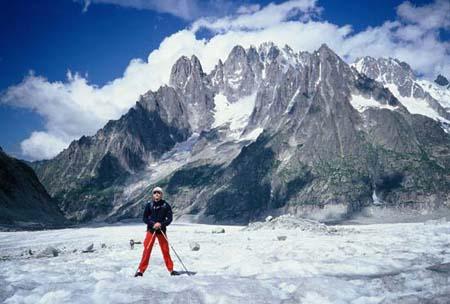 Na ledenjaku Mer de Glace, 1999.
