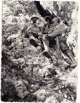 Leskovšek i Lozej u stijeni Velikog kuka