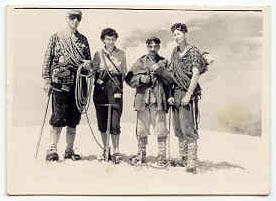 Polgar, Bojčić, Belačić i Jurić. Dolomiti 1958.